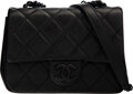 """Luxury Accessories:Bags, Chanel So Black Quilted Caviar Leather Mini Flap Bag. Condition: 1. 7"""" Width x 5.5"""" Height x 2.5"""" Depth. ..."""