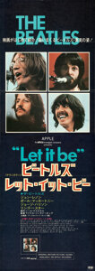 Movie Posters:Rock and Roll, Let It Be (United Artists, 1970). Folded, Very Fine.