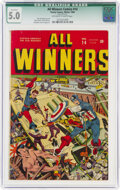 Golden Age (1938-1955):Superhero, All Winners Comics #14 (Timely, 1944) CGC Qualified VG/FN 5.0 Off-white to white pages....