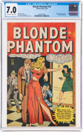 Golden Age (1938-1955):Superhero, Blonde Phantom #18 (Timely, 1948) CGC FN/VF 7.0 Off-white to white pages....