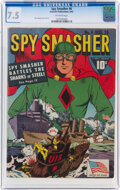 Golden Age (1938-1955):Superhero, Spy Smasher #6 (Fawcett Publications, 1942) CGC VF- 7.5 Off-white pages....