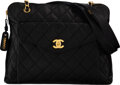 """Luxury Accessories:Bags, Chanel Black Quilted Caviar Leather Shoulder Bag with Gold Hardware. Condition: 3. 13"""" Width x 11"""" Height x 5"""" Depth..."""