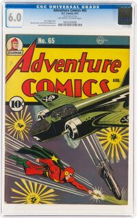 Adventure Comics #65 (DC, 1941) CGC FN 6.0 Off-white to white pages