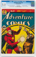 Golden Age (1938-1955):Superhero, Adventure Comics #67 (DC, 1941) CGC FN- 5.5 Off-white pages....