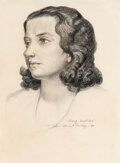 Works on Paper, John Steuart Curry (American, 1897-1946). Mary Swetekie, 1932. Pencil on paper. 13-1/4 x 9-5/8 inches (33.7 x 24.4 cm) (...