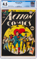 Golden Age (1938-1955):Superhero, Action Comics #52 (DC, 1942) CGC VG+ 4.5 Cream to off-white pages....