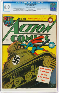 Action Comics #59 (DC, 1943) CGC FN 6.0 Slightly brittle pages