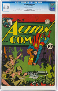 Action Comics #60 (DC, 1943) CGC FN 6.0 Off-white to white pages