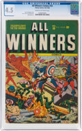 Golden Age (1938-1955):Superhero, All Winners Comics #10 (Timely, 1943) CGC VG+ 4.5 Cream to off-white pages....