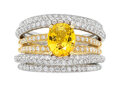 Estate Jewelry:Rings, Yellow Sapphire, Diamond, Gold Ring The ring ...
