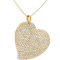 Estate Jewelry:Necklaces, Diamond, Gold Pendant-Necklace The heart penda...