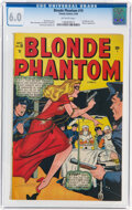 Golden Age (1938-1955):Superhero, Blonde Phantom #19 (Timely, 1948) CGC FN 6.0 Off-white pages....