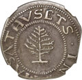 1652 SHILNG Pine Tree Shilling, Large Planchet, Pellets at Trunk -- Damaged -- NGC Details. XF. Noe-1, W-690, Salmon 1-A...