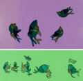 Animation Art:Color Model, Bedknobs and Broomsticks Dancing Fis...
