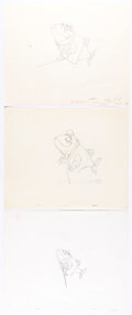 Animation Art:Production Drawing, Bedknobs and Broomsticks Layout Drawings by Joe Hale Group of 4 (Walt Disney, 1971). ... (Total...