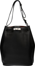 """Luxury Accessories:Bags, Hermès 26cm Black Togo Leather So Kelly Bag with Palladium Hardware. M Square, 2009. Condition: 3. 13"""" Width x 14""""..."""