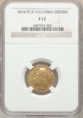 Colombia, Colombia: Ferdinand VII gold Escudo 1814/3 P-JF F12 NGC,...
