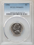 Jefferson Nickels, 1956 5C MS66 Full Steps PCGS. PCGS Population: (125/10). NGC Census: (115/20). CDN: $135 Whsle. Bid for NGC/PCGS MS66. ...