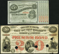 """Obsoletes By State:Louisiana, (Baton Rouge), LA- State of Louisiana $5 """"Baby Bond"""" ND Crisp Uncirculated;. New Orleans, LA- City of New Orleans $2... (Total: 2 notes)"""