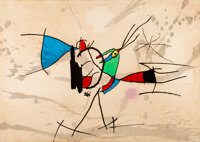 Joan Miró (1893-1983) Le cri coq de bruyere, 1973 Lithograph in colors, with embossing, on wove pape