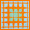 Prints & Multiples, Richard Joseph Anuszkiewicz (b. 1930). Untitled, late 20th century. Screenprint in colors on paper. 24 x 24 inches (61 x...