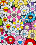 Prints & Multiples, Takashi Murakami (b. 1962). A Little Flower Painting: Pink, Purple, and Many Other Colors, 2017. Offset lithograph in co...