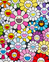 Takashi Murakami (b. 1962) A Little Flower Painting: Pink, Purple, and Many Other Colors, 2017 Offse