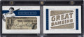 Baseball Cards:Singles (1970-Now), 2016 Panini Legends Cuts Babe Ruth #LCBM-BR - #'d One of One! ...