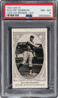 """Baseball Cards:Singles (Pre-1930), 1922 W573 Southern Coffee Mills """"Cafe Du Monde"""" Walter Johnson PSA NM-MT 8 - The Only PSA-Graded Card For This Set! ..."""