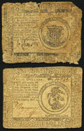 Continental Currency May 10, 1775 $1 Good; Continental Currency November 2, 1776 $3 Fine