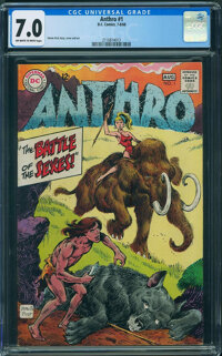 Anthro #1 (DC, 1968) CGC FN/VF 7.0 OFF-WHITE TO WHITE pages