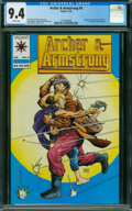 Modern Age (1980-Present):Superhero, Archer & Armstrong #0 (Valiant, 1992) CGC NM 9.4 White pages.