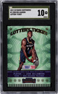 Basketball Cards:Singles (1980-Now), 2019 Panini Contenders Lottery Ticket Zion Williamson #1 SGC Pristine 10 - Gold Label. ...