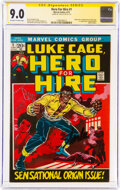 Bronze Age (1970-1979):Superhero, Hero for Hire #1 Signature Series: Stan Lee (Marvel, 1972) CGC VF/NM 9.0 Off-white to white pages....