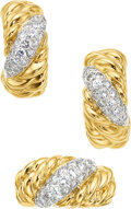 Estate Jewelry:Suites, Diamond, Platinum, Gold Earrings, Van Cleef & Arpels, French. ... (Total: 2 Items)