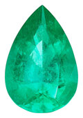 Estate Jewelry:Unmounted Gemstones, Unmounted Emerald The pear-shaped emerald meas...