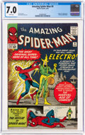 Silver Age (1956-1969):Superhero, The Amazing Spider-Man #9 (Marvel, 1964) CGC FN/VF 7.0 White pages....