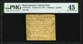 Colonial Notes:Massachusetts, Massachusetts October 18, 1776 3s PMG Choice Extremely Fine 45.. ...