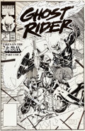 Original Comic Art:Covers, Jim Lee Ghost Rider #5 Co...