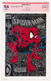Spider-Man 1 Silver Edition - Verified Signature: Todd McFarlane (Marvel, 1990) CBCS NM+ 9.6 White pages