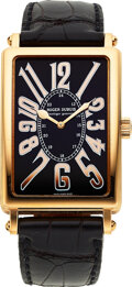 """Timepieces:Wristwatch, Roger Dubuis, Very Fine """"Much More"""" Gent's Gold Wristwatch, No. 05/28, circa 2000's. ..."""