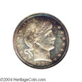Proof Barber Quarters: , 1901 25C PR67 NGC. This gorgeous proof Barber has vivid ...