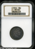 Proof Barber Quarters: , 1913 25C PR62 NGC. While several hairlines are present, ...