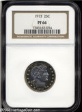 Proof Barber Quarters: , 1913 25C PR66 NGC. Only 613 pieces were struck of the ...
