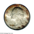 Washington Quarters: , 1934-D 25C MS67 PCGS. Generally nicely struck, with ...