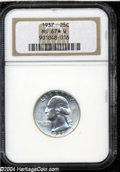 Washington Quarters: , 1937 25C MS67 ★ W NGC. A snow-white Superb Gem with ...
