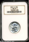 Washington Quarters: , 1942-S 25C MS67 NGC. Essentially brilliant with blazing ...