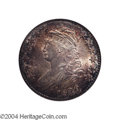 Bust Half Dollars: , 1820 50C Square Base 2, No Knob, Large Date MS63 NGC. O-...