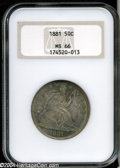 Seated Half Dollars: , 1881 50C MS66 NGC. With only 10,000 business strikes ...