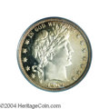 Proof Barber Half Dollars: , 1909 50C PR66 Cameo PCGS. Magnificent cameo contrast is ...